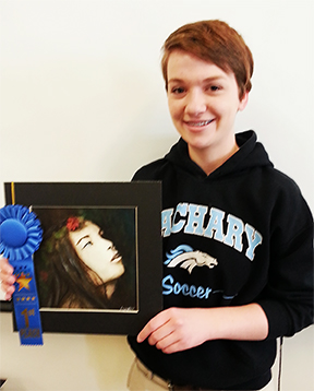 "Jessie Yantis, 1st Place, Student for her work ""Night-lock."""
